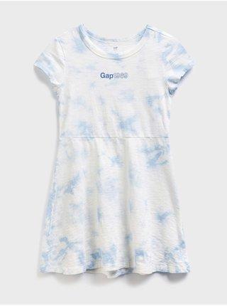 Barevné holčičí dětské šaty GAP Logo shor sleeve jersey dreas