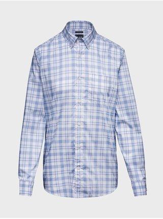 Modrá pánská košile performance poplin shirt in slim fit