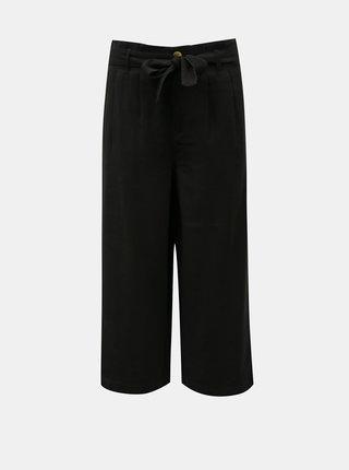Čierne culottes so zaväzovaním ONLY Aminta