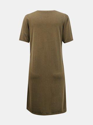 Khaki šaty Pieces Kamala