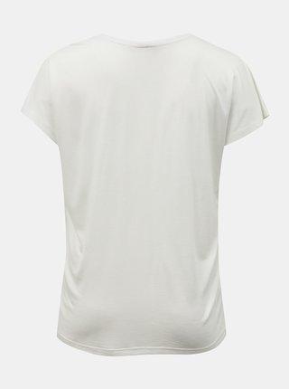 Biele tričko s potlačou ONLY CARMAKOMA City