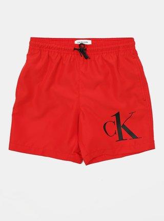 Calvin Klein červené chlapecké plavky Medium Drawstring