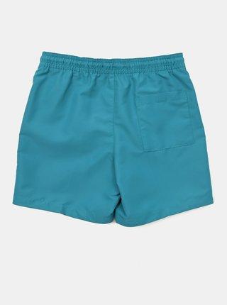 Calvin Klein zeleno-modré chlapčenské plavky Medium Drawstring