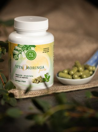Vitamin D Moringa forte 60 kapslí Herb & Me (400 mg)