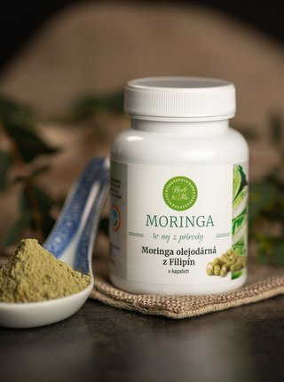Moringa kapsle Herb & Me - Měsíční kúra (90 ks)