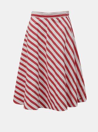 Bílo-červená pruhovaná sukně ZOOT Simona