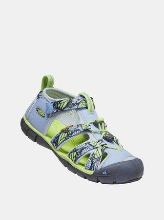 Svetlomodré dievčenské vzorované sandále Keen
