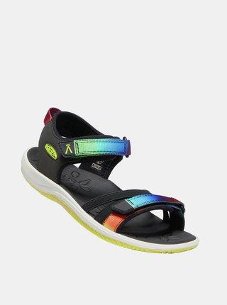 Čierne dievčenské sandále Keen