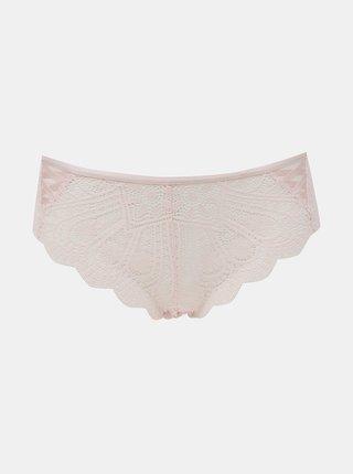 Světle růžové krajkové kalhotky DORINA