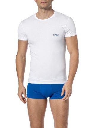 Pánské tričko 2pcs 111670 9P715 14210 bílomodrá - Emporio Armani bílá/modrá