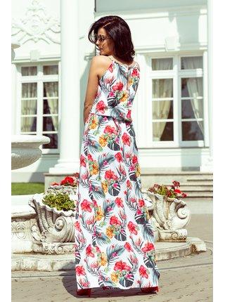 Dámské šaty 191-4 - Numoco bílá s květinovým vzorem