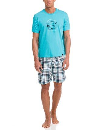 Pánské pyžamo 12722-282 modro bílá - Vamp
