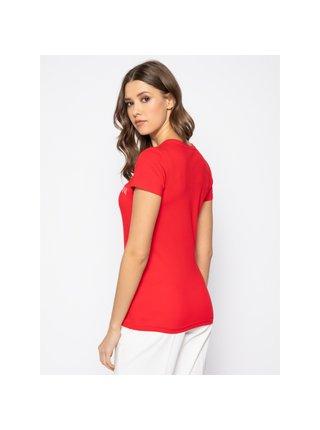 Dámské tričko 163321 0P317 00074 červená - Emporio Armani