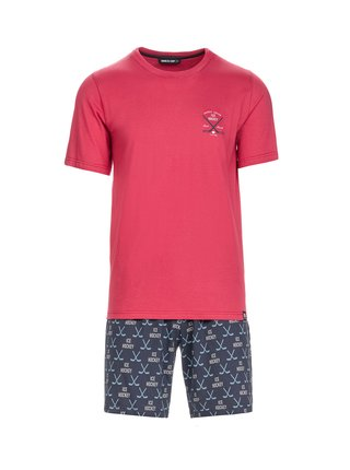 Pánské pyžamo 13692 - Vamp červená vzor