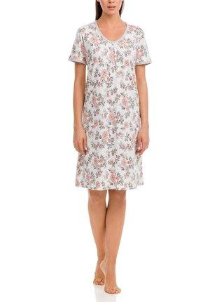 Dámská noční košile 12035 - Vamp ecru s květy