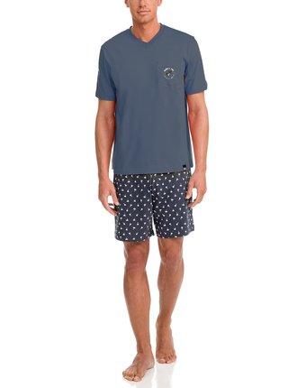 Pánské pyžamo 12663-298 tmavěmodrá - Vamp tmavě modrá