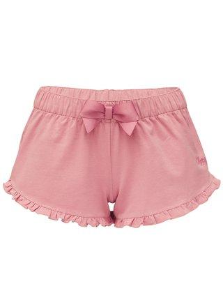 Slippsy pudrové domácí kraťasy Rose Shorts Girl