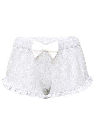 Slippsy šedé domácí kraťasy Light Gray Shorts Girl