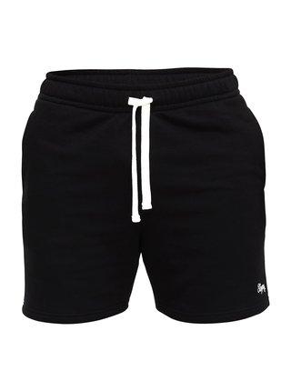 Slippsy černé pánské teplákové kraťasy Black Shorts Boy