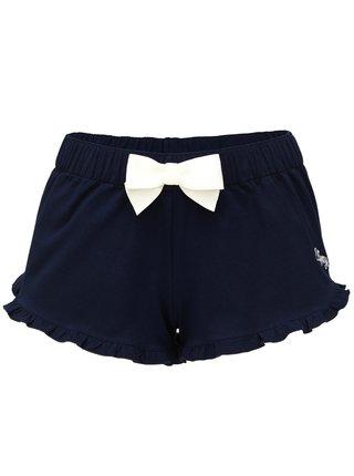 Slippsy tmavě modré domácí kraťasy Dark Blue Shorts Girl