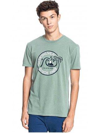 Quiksilver INTO THE WIDE BLUE SPRUCE pánské triko s krátkým rukávem - zelená