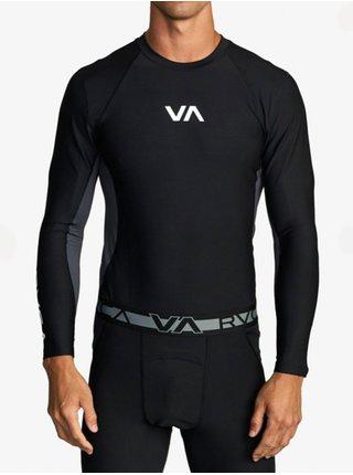 RVCA COMPRESSION black pánské triko s dlouhým rukávem - černá