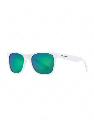 Horsefeathers FOSTER gloss white/mirror green sluneční brýle pilotky - bílá