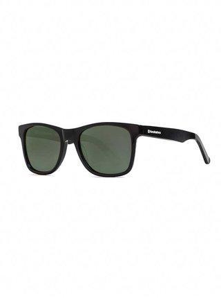 Horsefeathers FOSTER gloss black/gray green sluneční brýle pilotky - černá