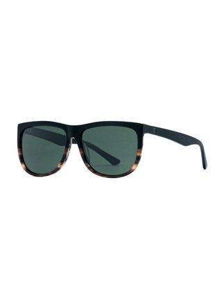 Horsefeathers GABE matt havana/gray green sluneční brýle pilotky - černá
