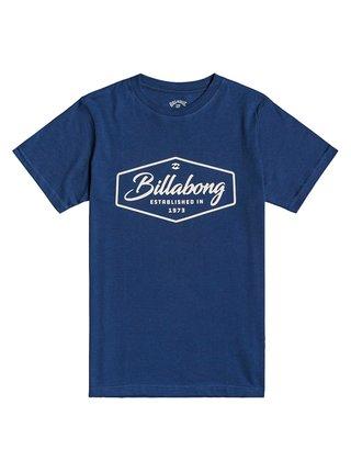 Billabong TRADEMARK DENIM BLUE dětské triko s krátkým rukávem - modrá