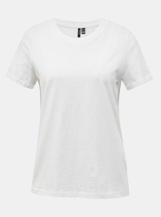 Bílé basic tričko VERO MODA Paula