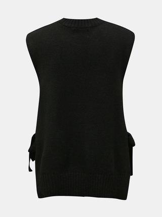 Čierna svetrová vesta Pieces Alice