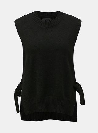 Černá svetrová vesta Pieces Alice