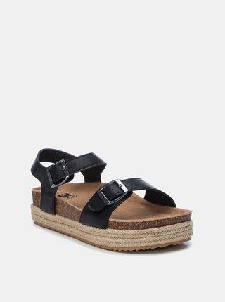 Čierne dámske sandále na platforme Xti