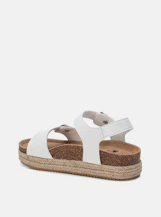 Biele dámske sandále na platforme Xti