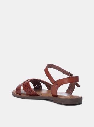 Hnědé dámské vzorované sandály Xti