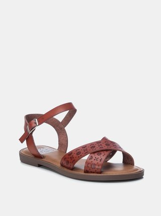 Hnedé dámske vzorované sandále Xti