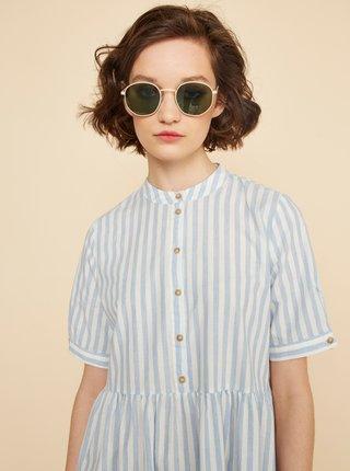Světle modré pruhované košilové šaty ZOOT Tilly