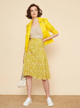 Žlutá květovaná sukně ZOOT Kailyn