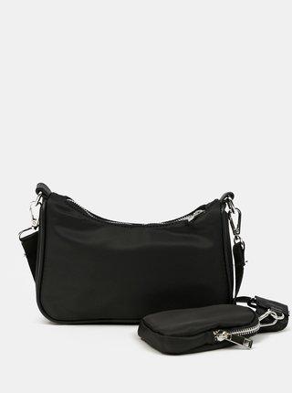 Čierna crossbody kabelka s malým púzdrom Pieces Funky