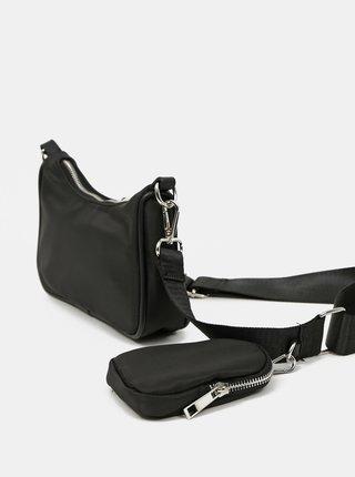 Černá crossbody kabelka s malým pouzdrem Pieces Funky