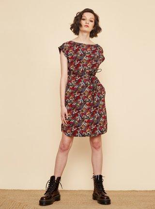 Červeno-černé květované šaty se zavazováním ZOOT Tea