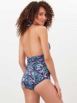 Modré květované jednodílné plavky Tom Joule
