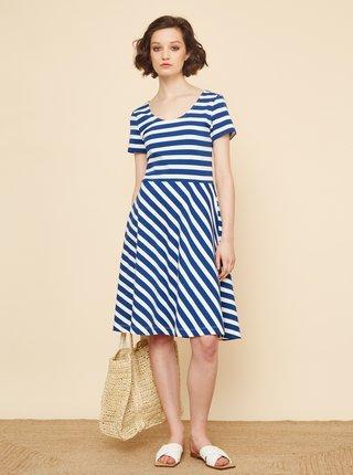 Bílo-modré pruhované šaty ZOOT Jesica