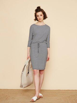 Modro-biele pruhované šaty so zaväzovaním ZOOT Baseline Demi