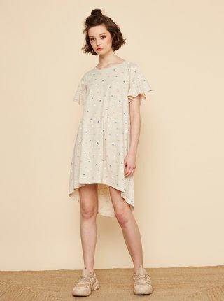 Béžové vzorované šaty ZOOT Baseline Mahulena