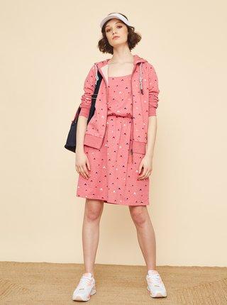 Růžové vzorované šaty ZOOT Baseline Rosemary