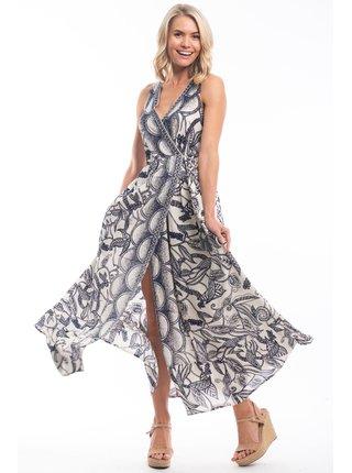 Orientique volné maxi letní šaty Valencia se vzory