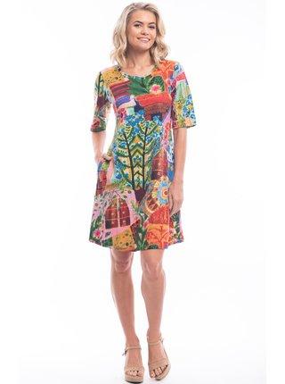 Orientique barevné letní šaty Jaipur se vzory