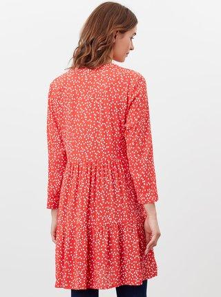 Červené dámské puntíkované šaty s kapsami Tom Joule